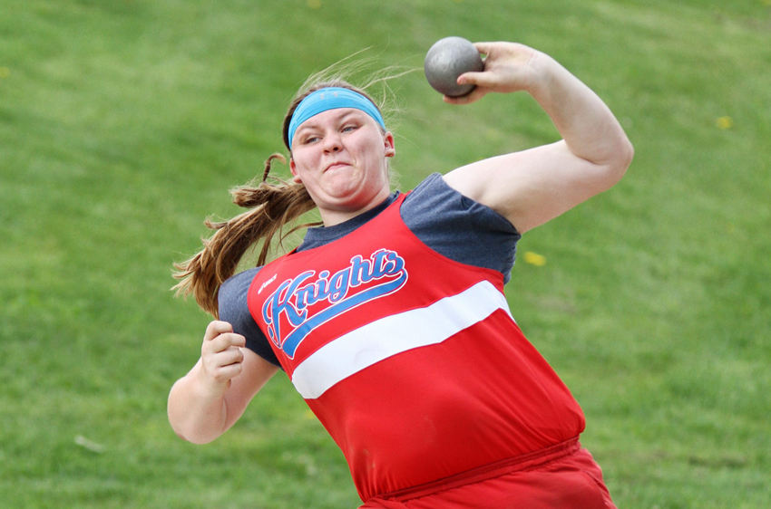 Kandel Qualifies for State in Shot Put as Knights Compete at Regional Track Meet