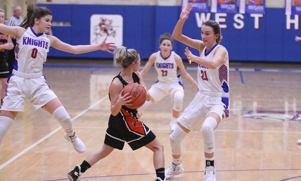 Girls Varsity Basketball beats Mount Vernon 65 – 59