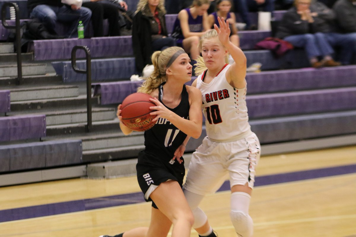 Bison Girls Hoops Action From 51-43 Loss to Elk River