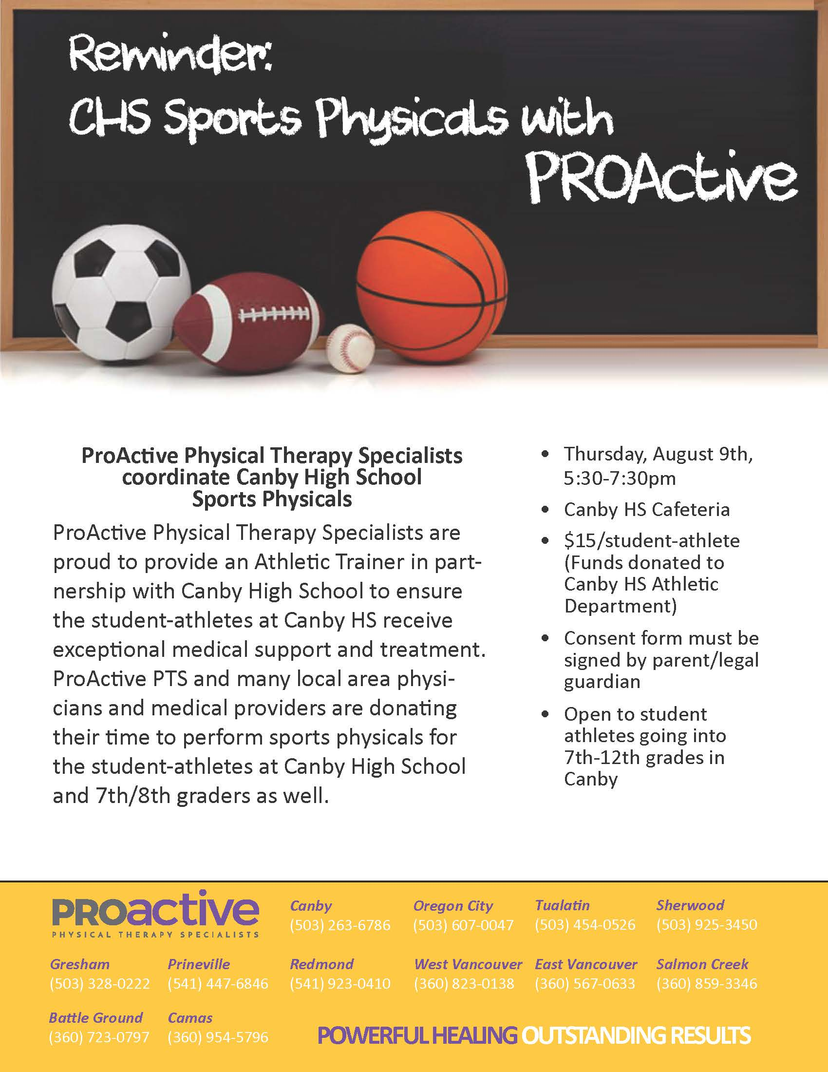 Sports Physicals with PROActive