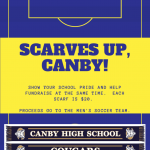 Scarves Up, Canby! – Men's Soccer Fundraiser