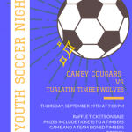 CHS Men's Soccer to Host Youth Soccer Night on September 19th
