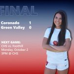 Girls Varsity Soccer beats Green Valley 1 – 0