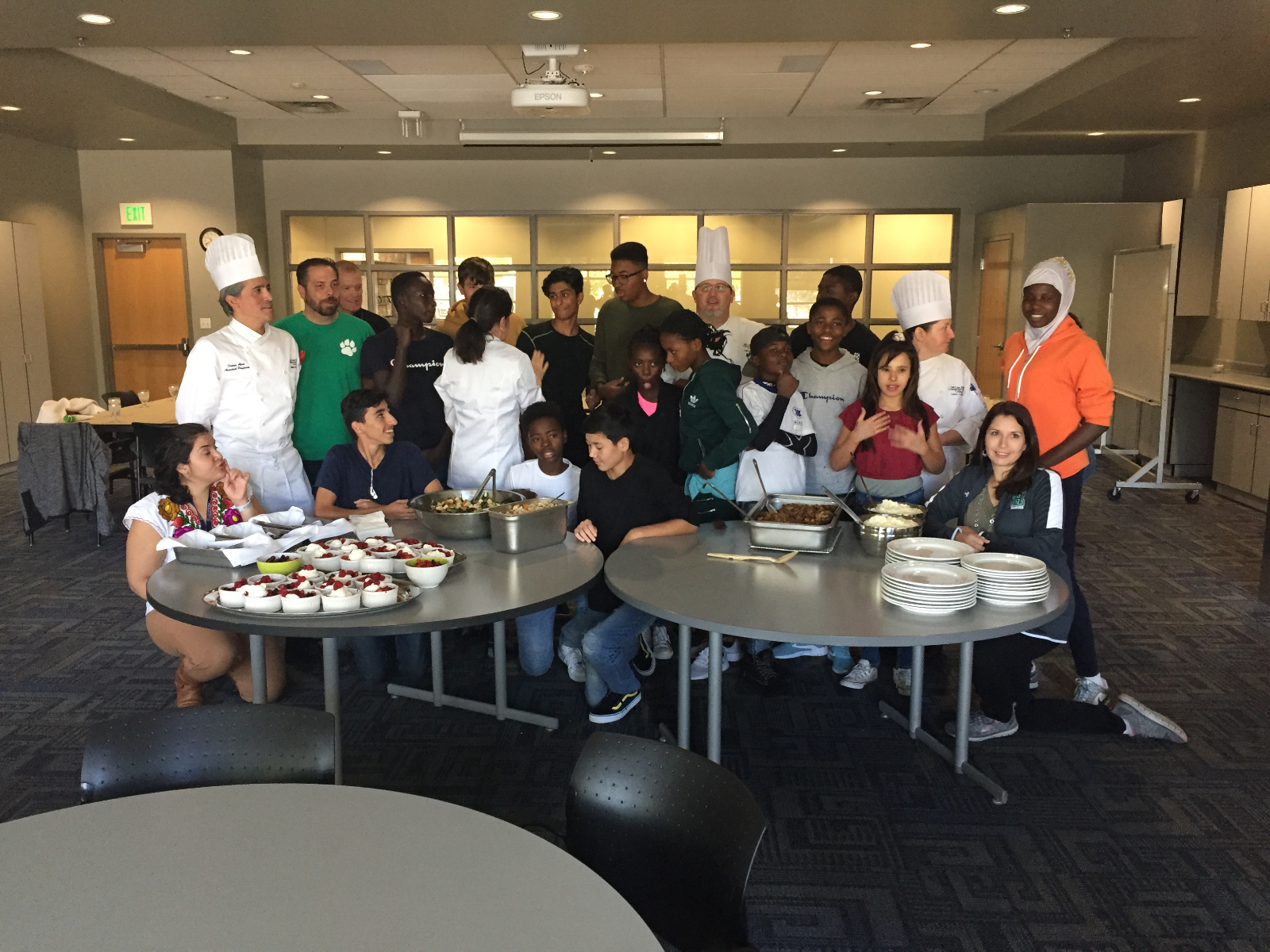 Hillcrest Student Refugee group Visits SLCC's Culinary Arts Institute!