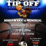 Turkey Tip-Off!!  MHS Students Get in FREE!  Opening Night of Boys Basketball