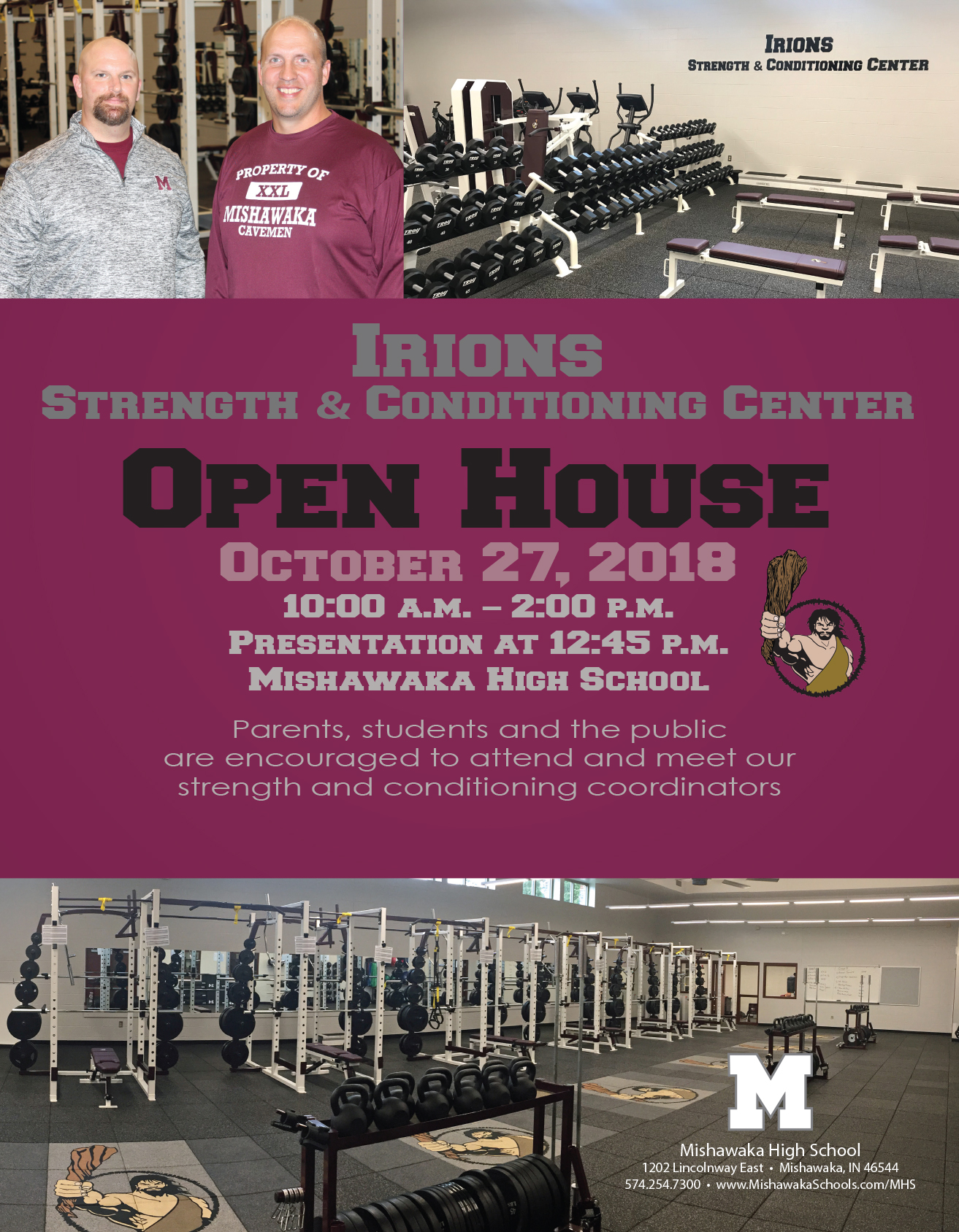 Irions Strength and Conditioning Center Open House