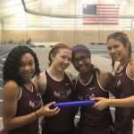 Girls track takes first place in 6 events at Trine Indoor