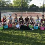 Girls Varsity Tennis beats LaVille 4 – 1 on Senior Night