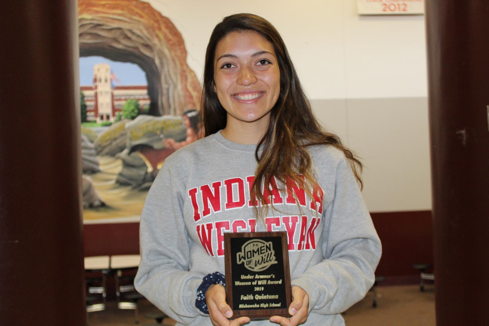 Mishawaka's Faith Quintana Receives Two Awards