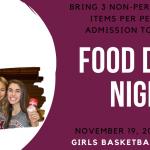 Support the Food Bank and Mishawaka Girls Basketball