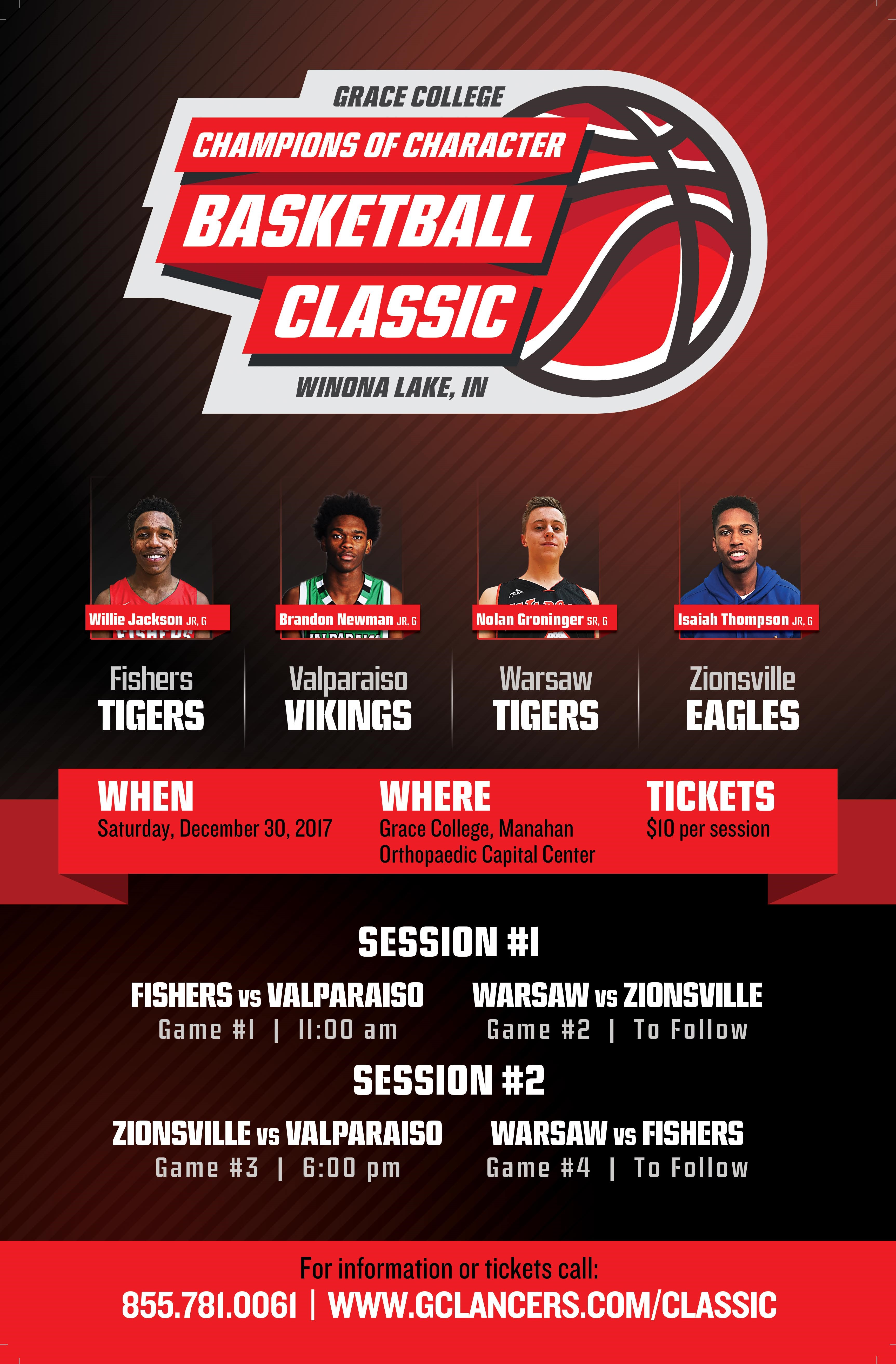 Grace College Champions of Character Classic Ticket Sales