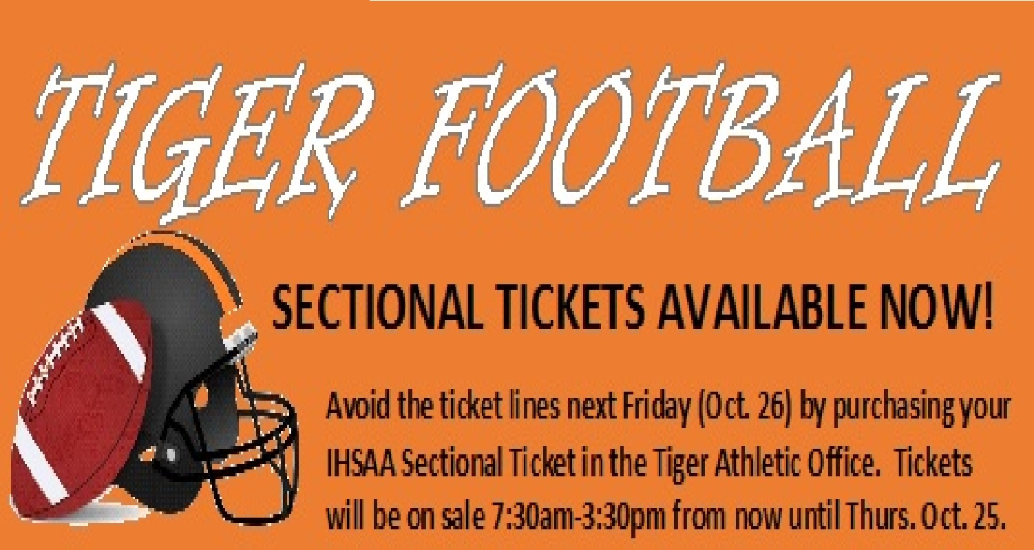 FOOTBALL SECTIONAL TICKETS AVAILABLE
