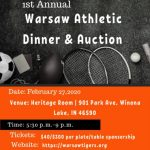 """1st annual """"We are ALL Tigers"""" Athletic Dinner & Auction on 2/27/20"""