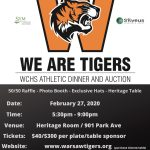 """1st annual """"We are Tigers"""" Athletic Dinner & Auction on 2/27/20"""