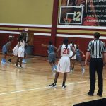 The Lady Red Elephant Basketball overwhelmed by Lee