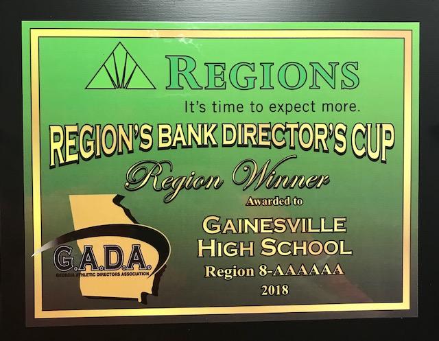 GHS Wins Region 8-AAAAAA Directors Cup