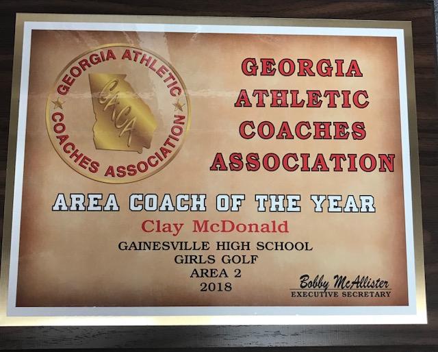 Congratulations Coach Clay McDonald