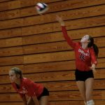 Varsity Volleyball beats Johnson 2 – 0