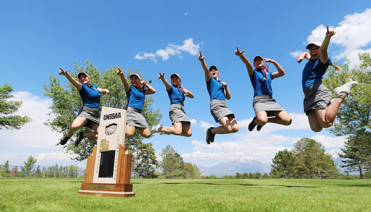 High school golf: Corner Canyon girls three-peat at Utah 5A state championships