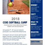 Come to the CCHS Youth Softball Camp