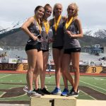 Girls 4 x 400 Team Breaks School Record