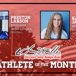 And the Larry H. Miller Chrysler Jeep Dodge Ram September Athletes of the Month are….