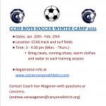 CCHS Boys' Winter Soccer Camp 2021