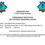 7th & 8th Grade Cheerleading Tryouts