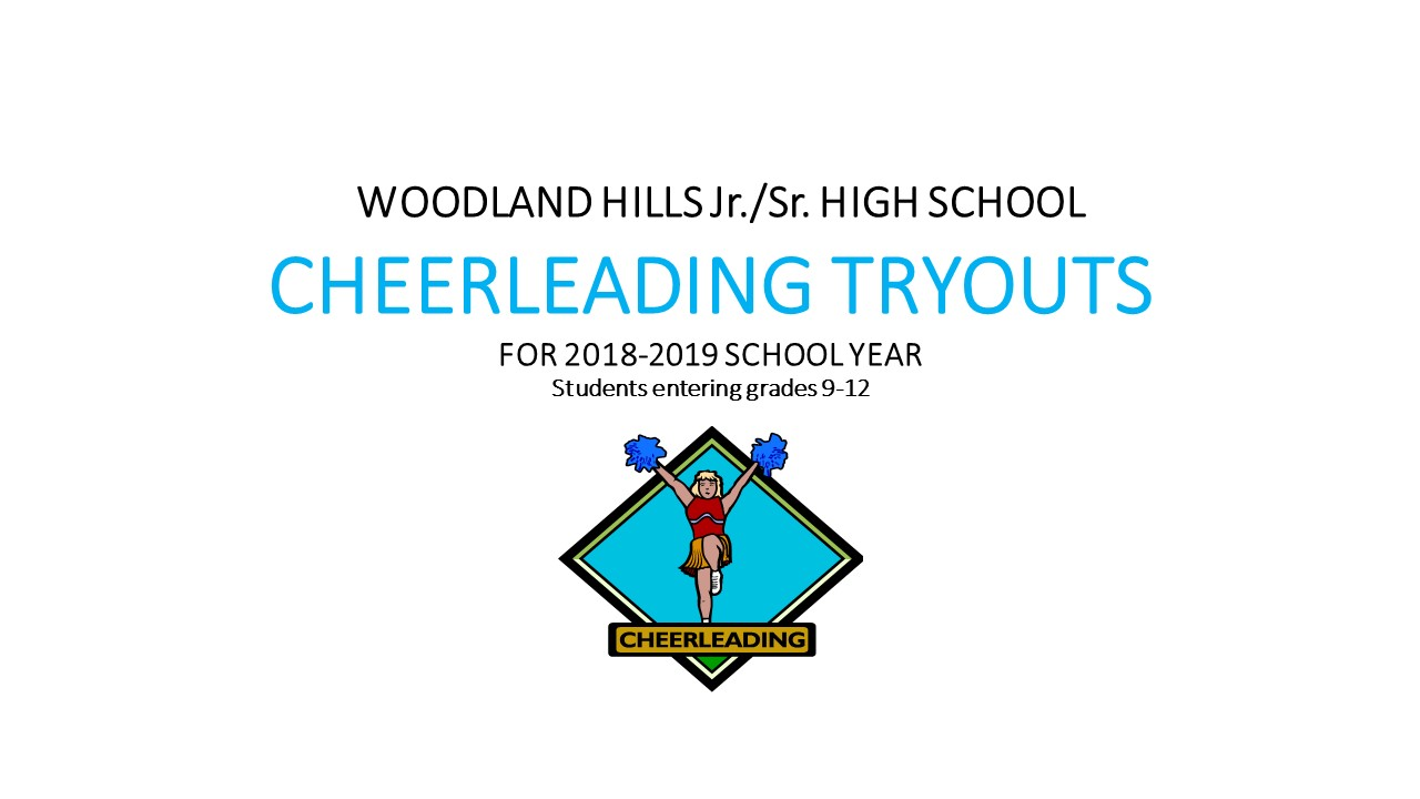 2018-2019 Cheerleading Tryouts for Students Entering Grades 9-12