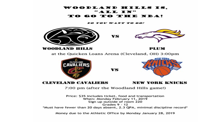 WHHS students invited to Cleveland to see Woody High & the Cavs
