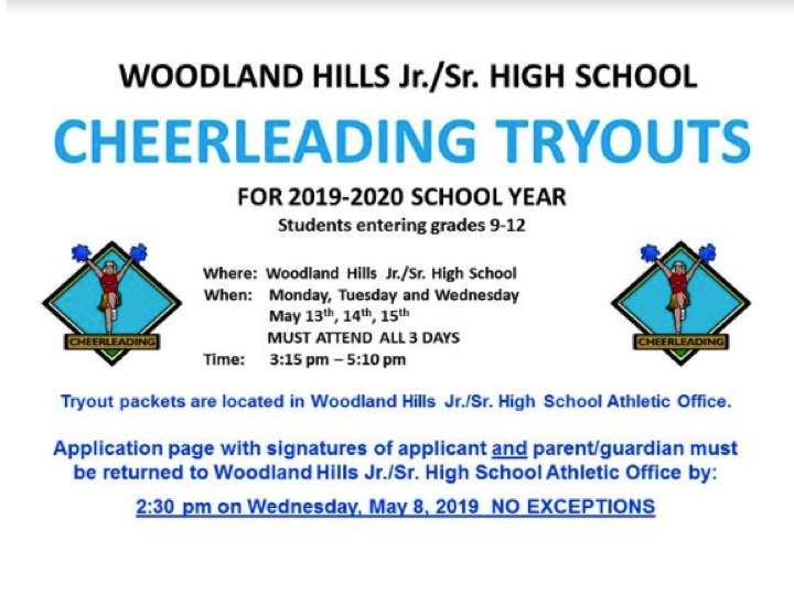 WHHS Cheerleading Tryouts for 2019-2020