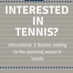 Important Tennis Informational & Booster Club Meeting Scheduled for Monday, November 12th @ 6:30 in RRHS Media Center