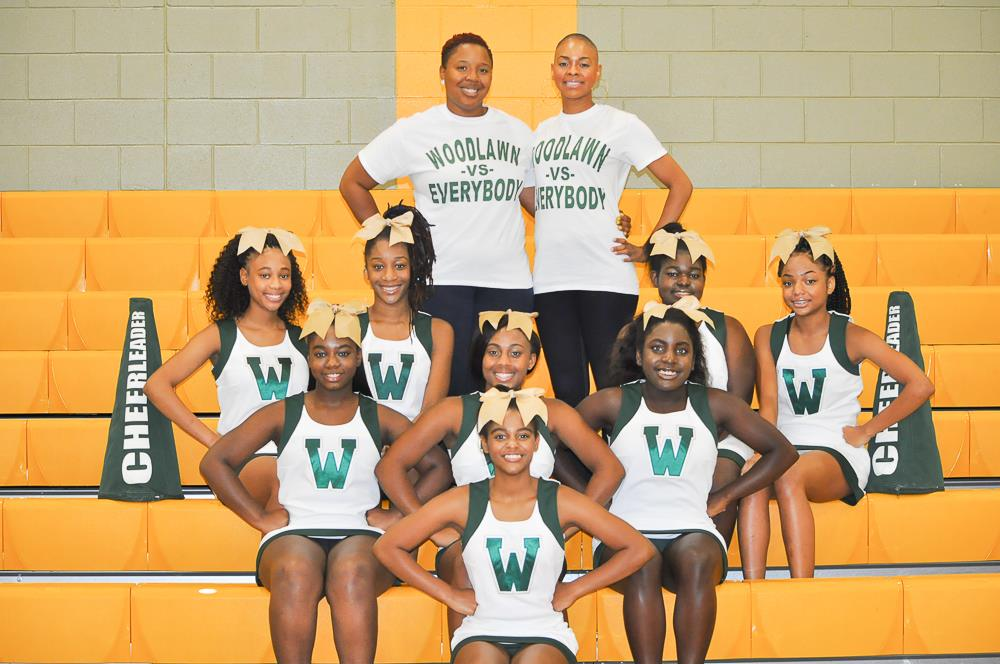 2017 – 2018 Woodlawn High School Cheerleaders!!