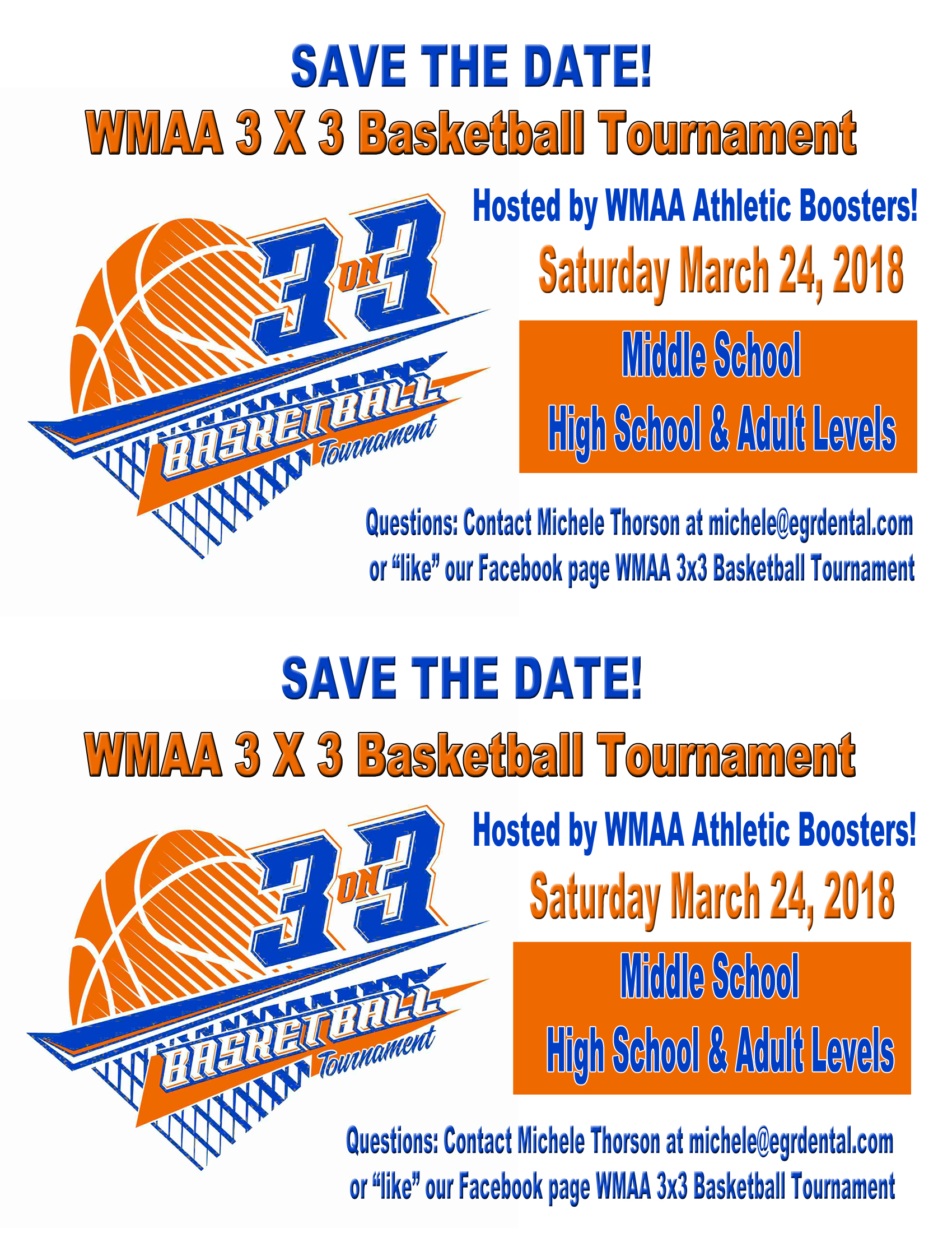WMAA 3 on 3 Basketball Tournament