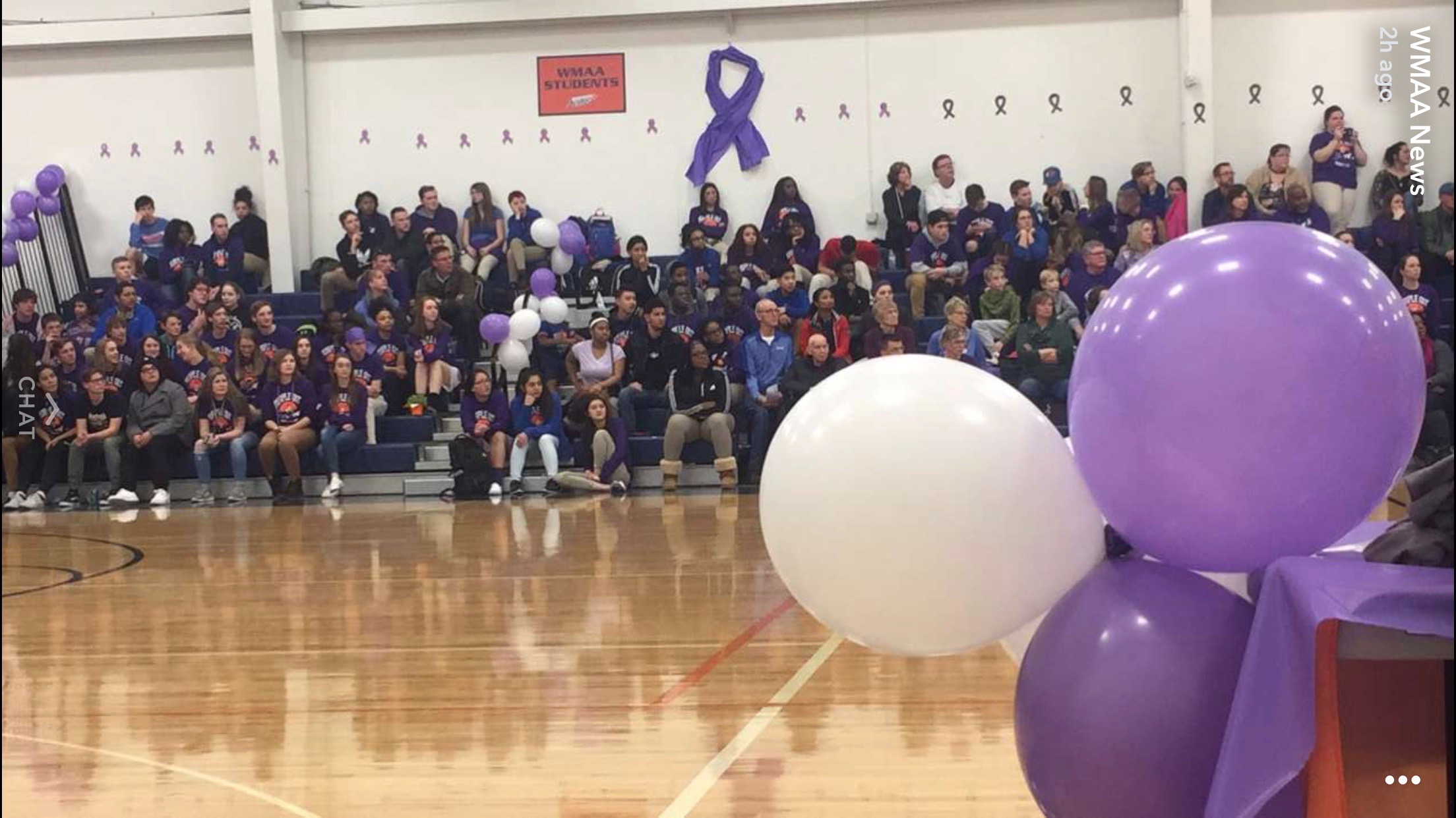 Purple out Game was a huge success