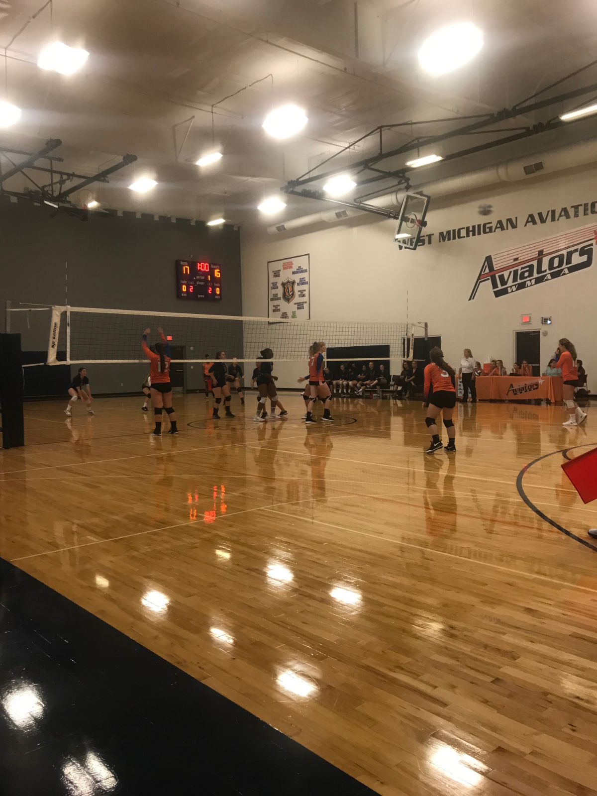 Varsity Volleyball wins  a huge game over Potters house to remain undefeated in the Alliance League