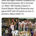 Aviator Boys knock off Sacred Heart on Friday and turn around and get another big win on Saturday over Detroit Southeastern