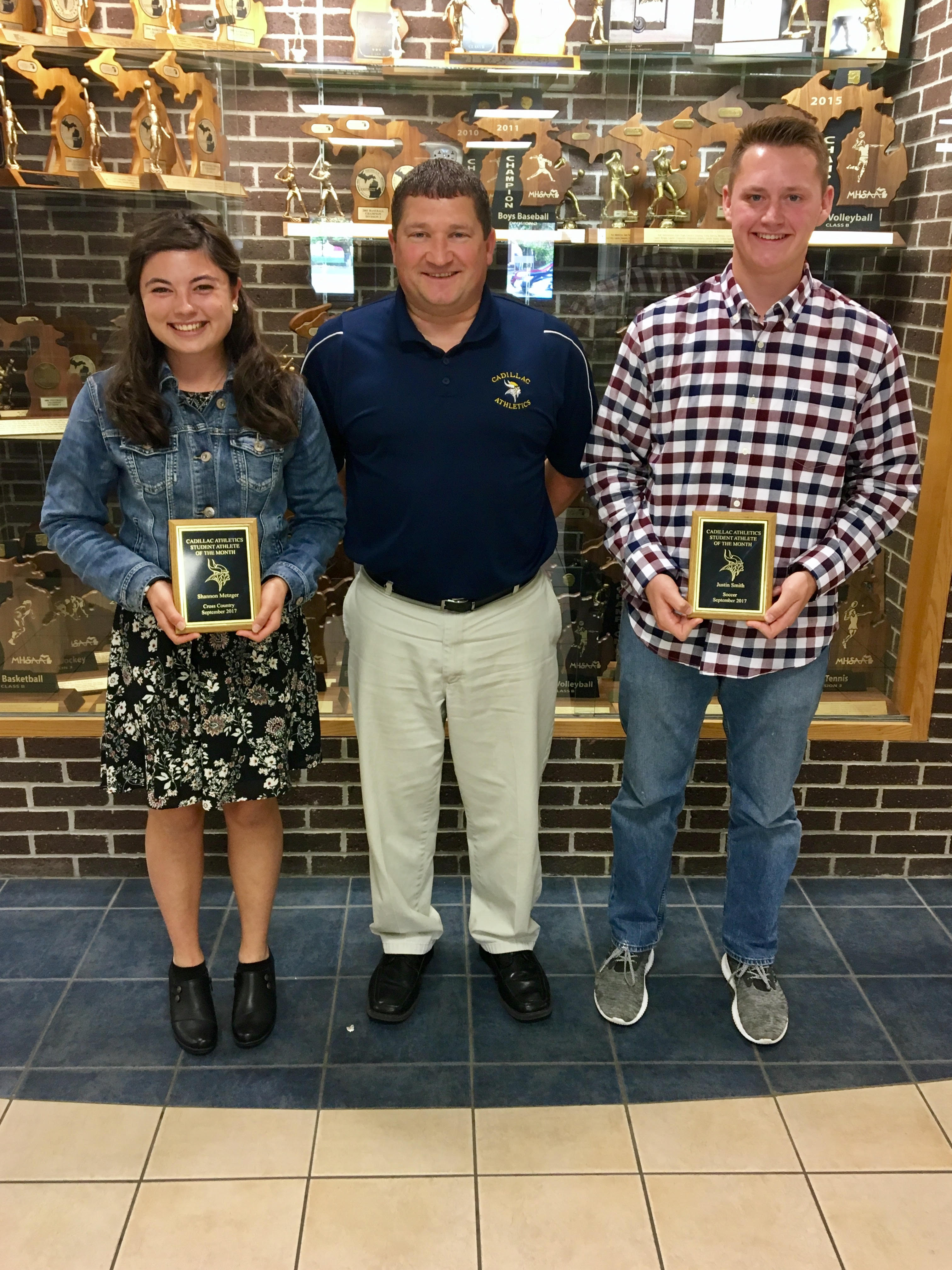 Shannon Metzger and Justin Smith Selected as September Athletes of the Month