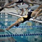 Swim Team Competes Against Ludington