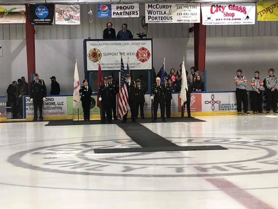 Hockey Falls to Big Rapids in Military Appreciation Game