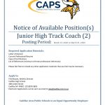 Jr High Track Position Openings