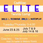 Elite Tennis Camp Information for Incoming 9-12 Graders