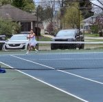Tennis Falls Short to Petoskey and Forest Hills Eastern in Tri