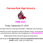 FHS Pink Out 9/27