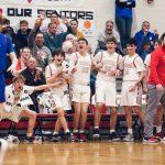 Photos (2/21 vs. Bay): Fairview Boys Basketball and Cheer Senior Night/Conference Championship Clinching Victory (Photo Credit: Sean Faska)