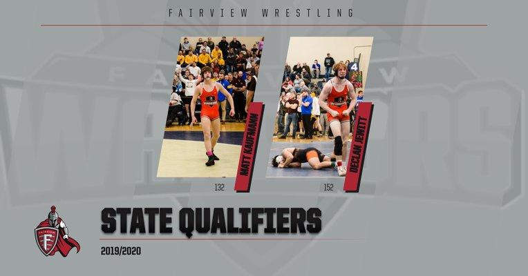 Honoring Our Wrestling State Qualifiers: Matt Kaufmann and Declan Jewitt