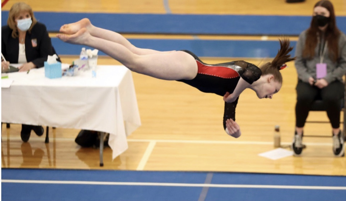 Tessa Kelly Earns All-Ohio Honors/Places 10th on Floor at State Gymnastics Meet