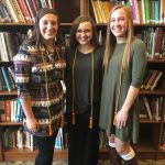 Three Lady Trojan Basketball Players inducted to National Honor Society
