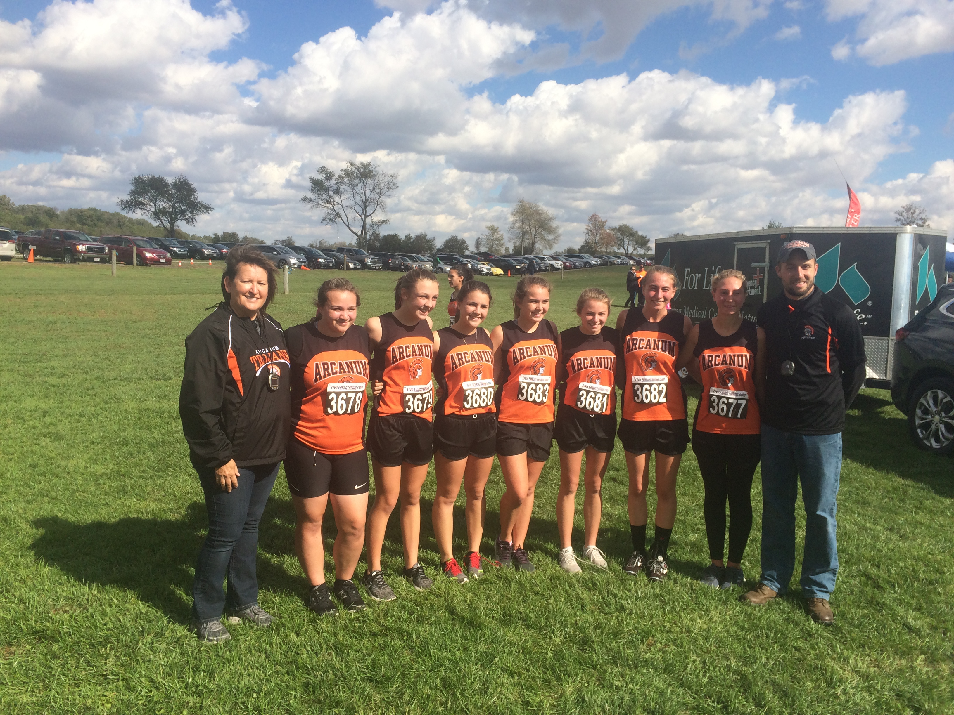 CC Girls compete at Districts! Lydia Shannon qualifies for Regionals!