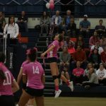 Girls Volleyball rallies behind survivor Ashtyn Poulsen in Pink Night game